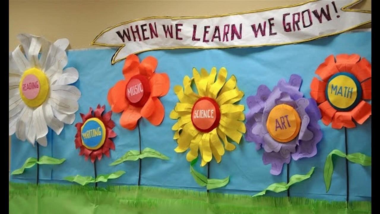 Decoraciones del salón de clases de primavera - YouTube