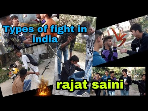 Type Of Fights In India | Rajat Saini | Fighting Comedy