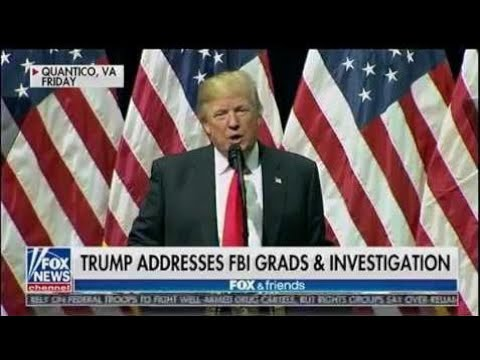 Trump Addresses FBI Grads & Investigation - Fox & Friends