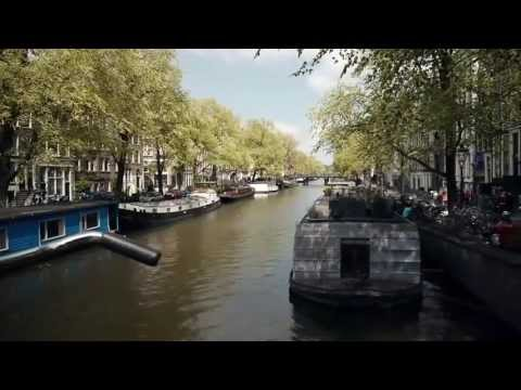 Amsterdam city, canal cruise, bikes, church, Holland