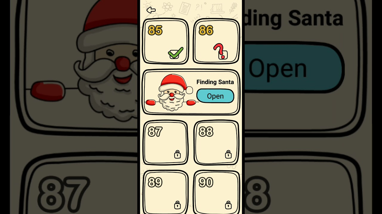 Brain out finding Santa level 1-10 - YouTube