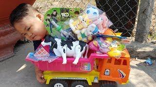 Trò Chơi Bé Vui Xe Thô Bí Ẩn ❤ ChiChi ToysReview TV ❤ Đồ Chơi Trẻ Em Baby Doli Bài Hát Vần Thơ