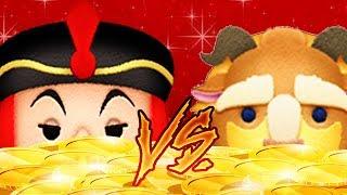Let's Challenge It! - Jafar VS Beast Skill lvl 6 (Disney Tsum Tsum) Coins Farming Results