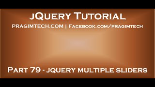 jquery multiple sliders on page(, 2015-06-28T17:39:25.000Z)