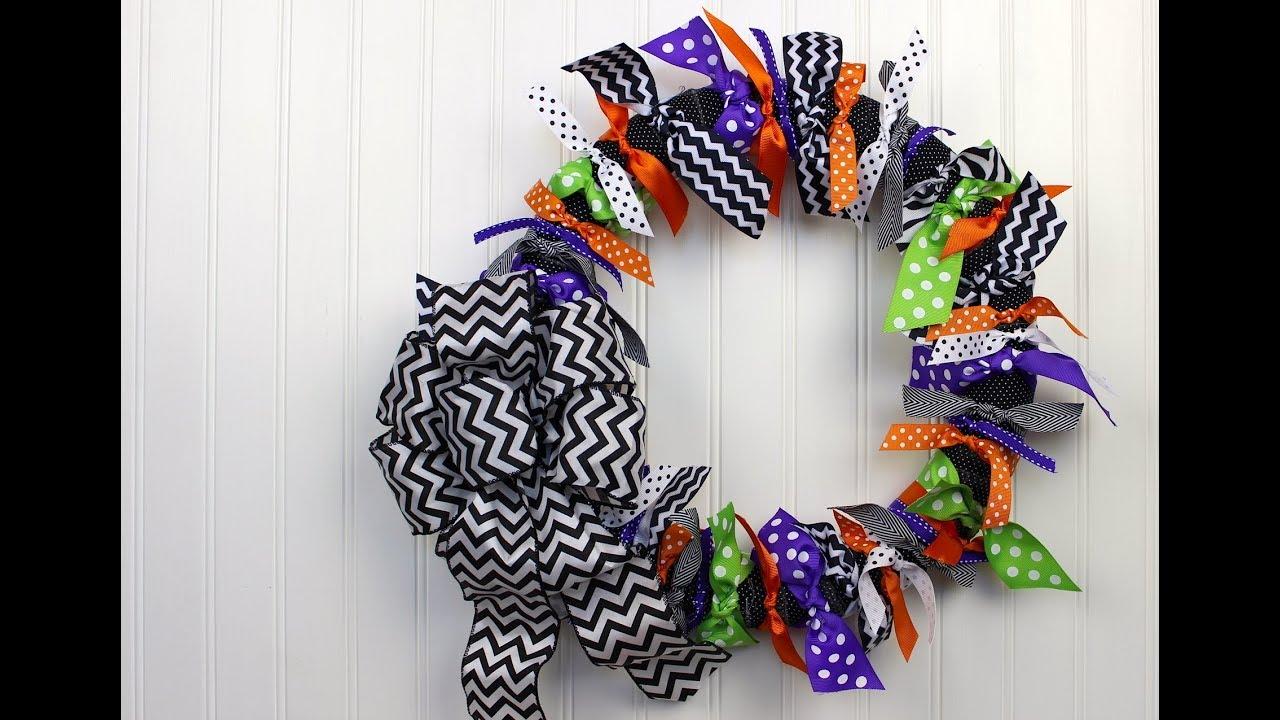 DIY Projects Halloween Ribbon Wreath