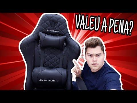 UNBOXING CADEIRA THUNDER X3   Cadeira THUNDER X3 é Boa? TODOS OS DETALHES!!