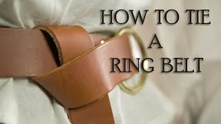 How to Tie a Ring Belt from Medieval Collectibles