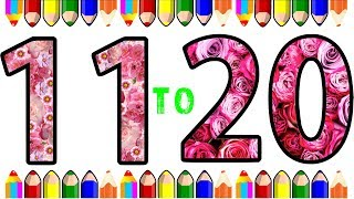 Learn Number coloring and drawing Learn Colors for kids 11 to 20 | Learn the Colors for Kids