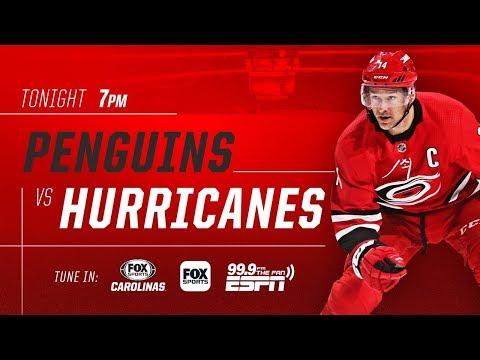 NHL 19 PS4. REGULAR SEASON 2018-2019: Pittsburgh PENGUINS VS Carolina HURRICANES. 12.22.2018.(NBCSN)