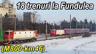 18 trenuri la Fundulea km46 pe M800-trains,Züge
