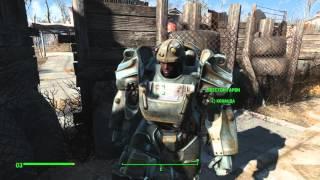 Fallout 4 Одеваем напарников в силовую броню