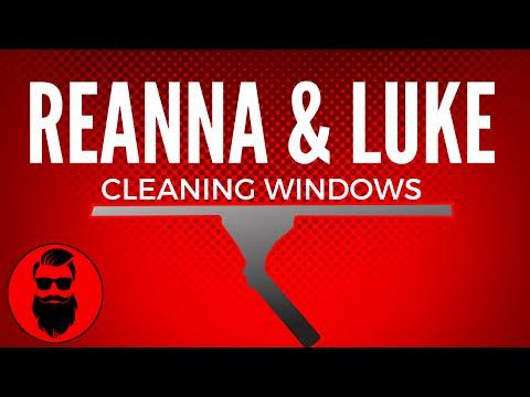 Reanna & Luke Cleaning Windows