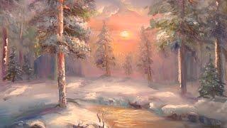 "Видео урок ""Как нарисовать пейзаж зимний лес"""