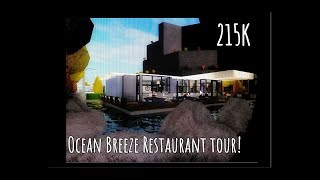 Roblox Bloxburg | Ocean Breeze Restaurant tour! | 215K