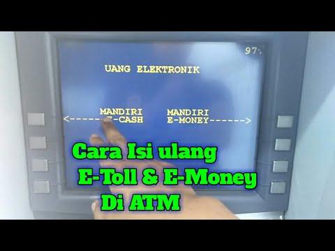 Cara Top Up E Money Di Mesin Atm Youtube