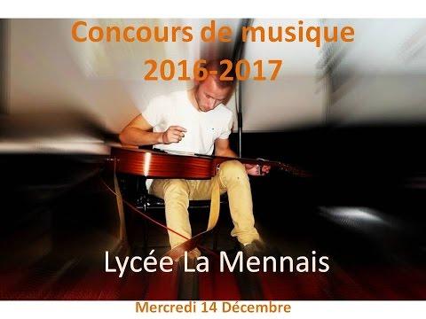 concours de musique 2016 - 17 Lycée La Mennais (Ploërmel)