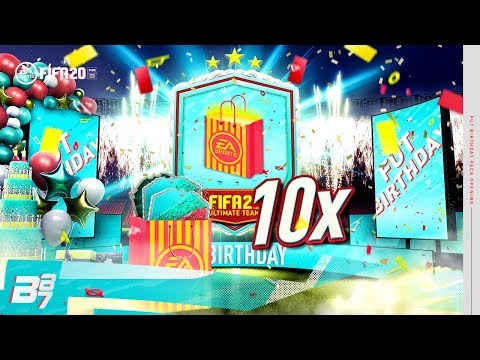 INSANE FUT BIRTHDAY PACKED! X10 PARTY BAG PACKS! | FIFA 20 ULTIMATE TEAM