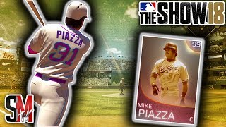 Immortal Mike Piazza Debut! Huge Deep Center Home Run! MLB The Show 18 Gameplay