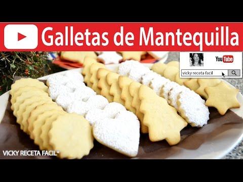 CÓMO HACER GALLETAS DE MANTEQUILLA | Vicky Receta Facil