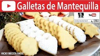 GALLETAS DE MANTEQUILLA | Vicky Receta Facil