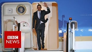 President Obama arrives in London - BBC News