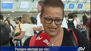 Por qué se registró cierre de operaciones en el aeropuerto José Joaquín de Olmedo de Guayaquil