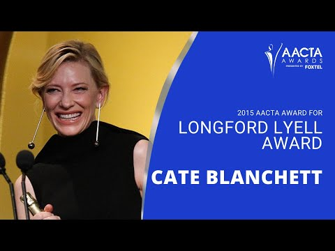 Cate Blanchett receives the AACTA Longford Lyell Award - Full Version