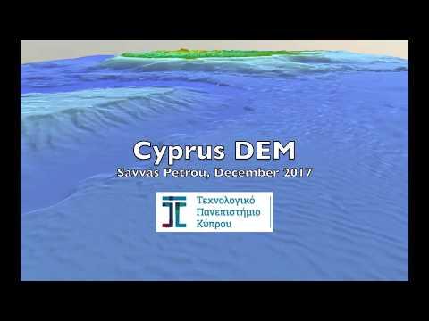 Cyprus DEM - East Mediterranean (ASTER GDEM V2 + EMODnet Bathymetry)