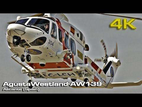AgustaWestland AW139 Helicopter (Close view) [4K]