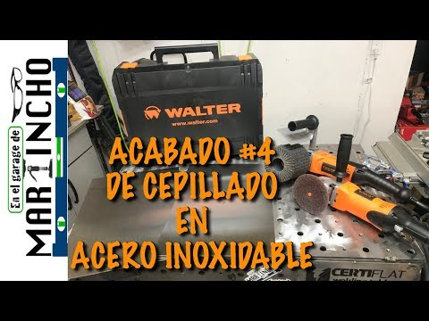 Acabado de Cepillado en Acero Inoxidable ( WALTER SURFACE TECHNOLOGIES )