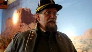 """Confederate soldier"" at the La Quinta Museum"