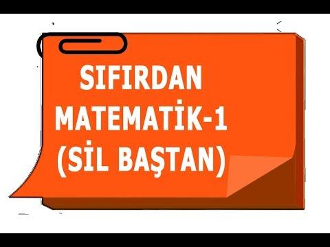 SIFIRDAN MATEMATİK-1(SİL BAŞTAN)