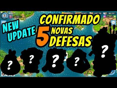 CONFIRMADO 5 NOVAS DEFESAS - NEW UPDATE | BOOM BEACH | MEGA CRAB E BOOST TRIBOS