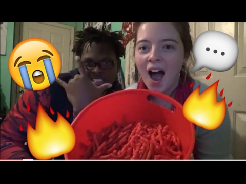 HOT CHEETOS & TAKIS CHALLENGE!! [STORYTIME]