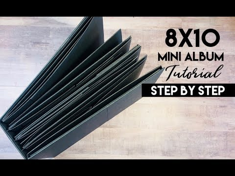 Interactive 8x10  Mini Album Tutorial - Step by Step thumbnail
