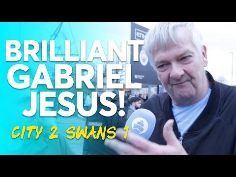 BRILLIANT GABRIEL JESUS! | Manchester City 2-1 Swansea City