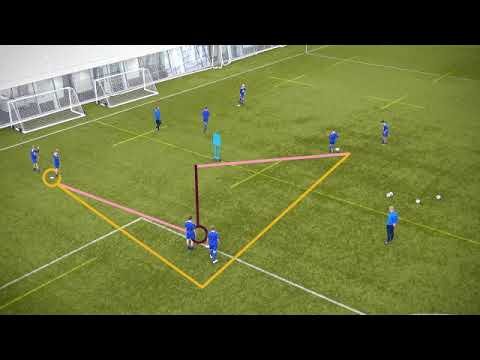 Overlap Passing Training Drill | Football Coaching | What It Takes