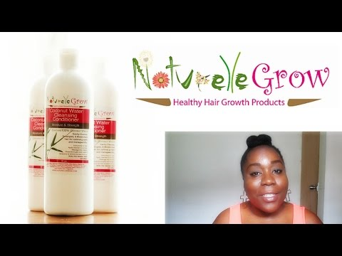 4c Hair Product Review: NaturelleGrow Coconut Water Cleansing Conditioner