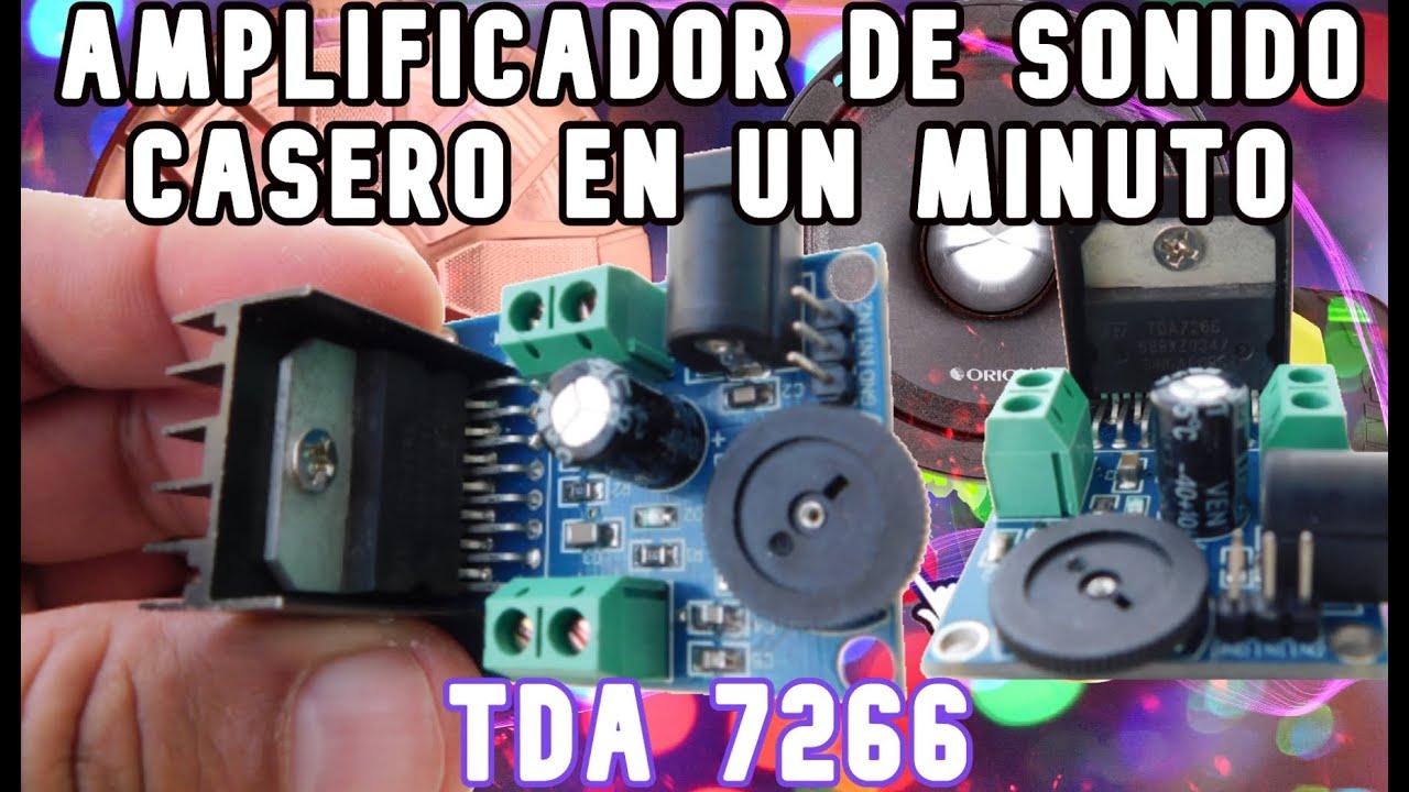 TDA 7266 AMPLIFICADOR CASERO  EN UN MINUTO