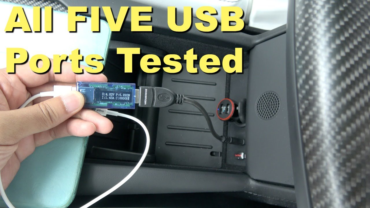 Tesla Model X Episode 6 All 5 Usb Ports Tested And