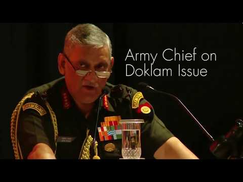 """""""CPEC Passing Through PoK Challenges India's Sovereignty"""": General Bipin Rawat on Doklam"""