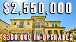 Yorba Linda California Toll Brothers View Estate Home TOURS Million Dollar Mansions