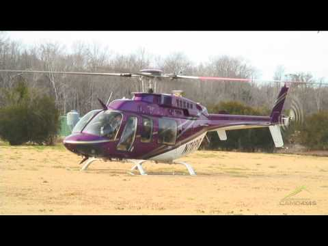Helicopter Bell 407 Take Off