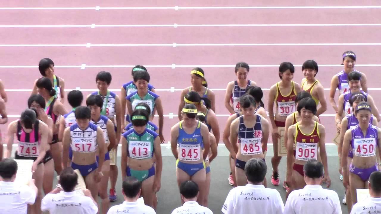 2016 岡山インターハイ陸上 女子4×400mR表彰