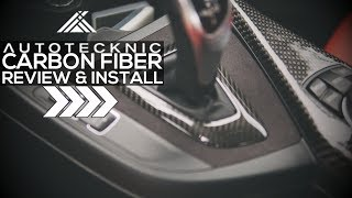 BMW AutoTecknic Carbon Fiber and Alcantara Trim Install F22 F87