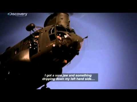 Chinook Pilot takes a headshot... then flies the thing home