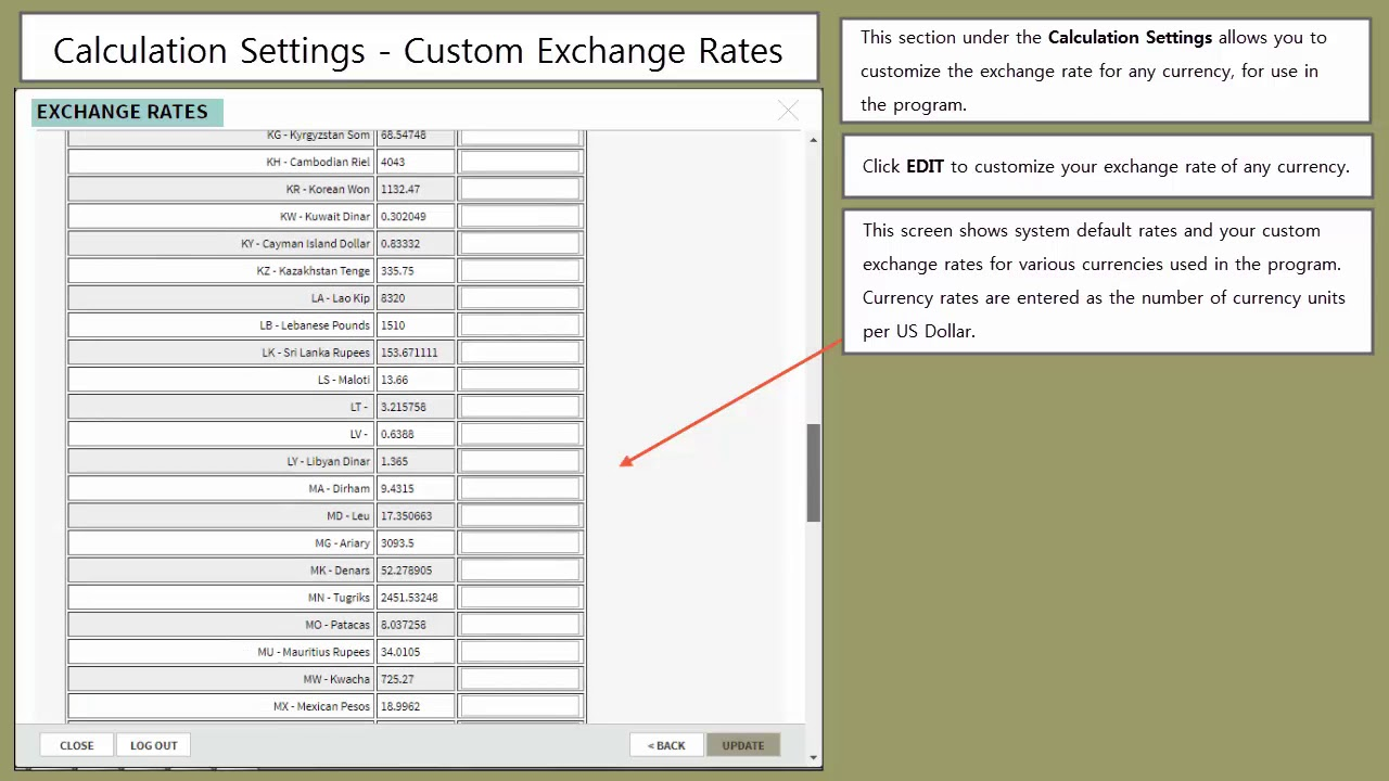 Cust Exchange Rates For Calculation Settings User Help Clips Global Ip Estimator Online