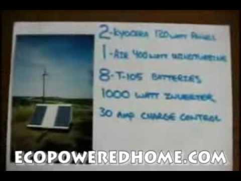 Astounding FOOTAGE!!! Functional DIY Off-Grid Home Renewable Energy
