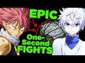 "When the ""Short Lame Fights"" are the most Badass - (ft Natsu Fairy Tail, Killua Hunter x Hunter)"