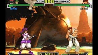 Capcom vs. SNK Pro [PS1] - Morrigan & Nakoruru